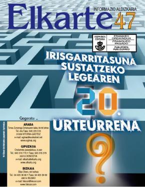 Revista Elkarte. Monográfico sobre los 20 años de la Ley para la Promoción de la Accesibilidad
